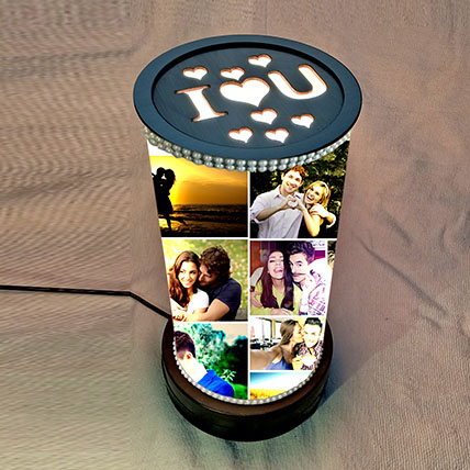 Rotating ILU Memories Lamp