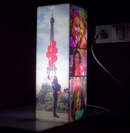 Personalized Pillar Photo Lamp