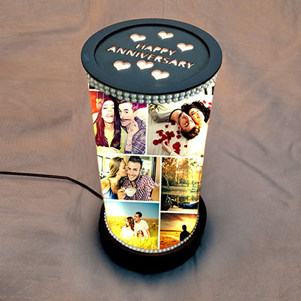 Rotating Anniversary Memories Lamp