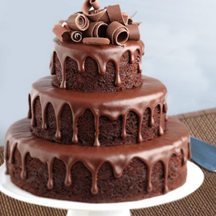 3 Tier Yummy Chocolate Cake