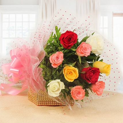 Valentine Mixed Roses Bunch