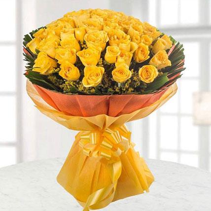 Sunshine Yellow Roses Bouquet Large