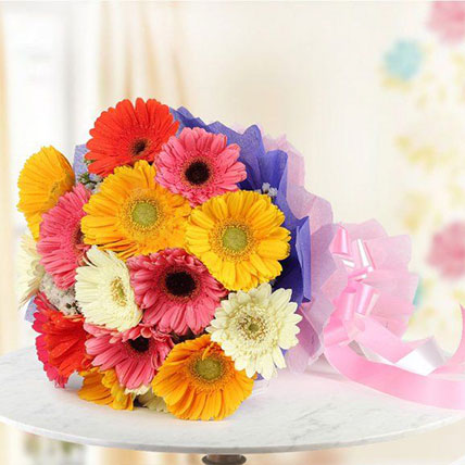 Lovely Mixed Gerbera Bouquet