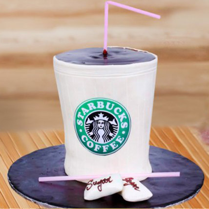 Starbucks Coffee Fondant Cake