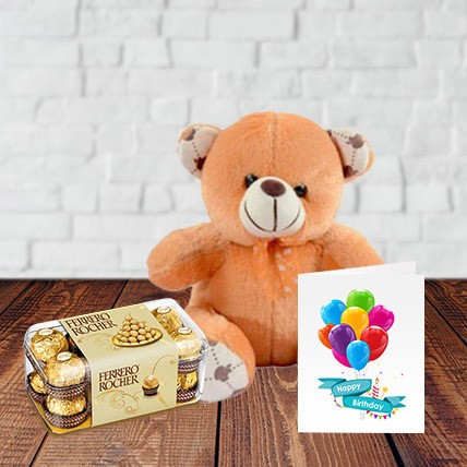 Birthday Choco-Teddy Combo