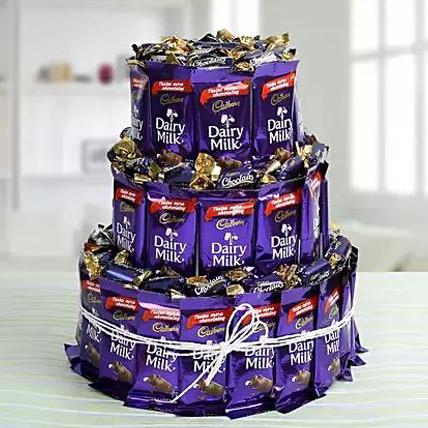 Valentine Dairy Milk Chocolate & Eclairs Arrangement