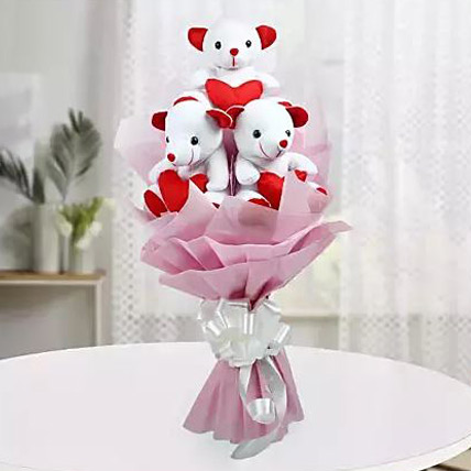 Valentine Cute Teddy Bouquet