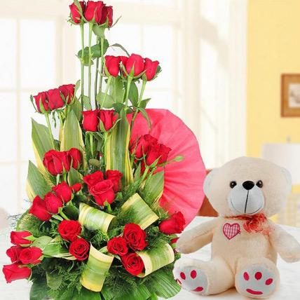 Valentine Rose and Teddy combo