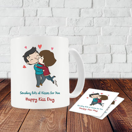 Kiss Day Mug and Coasters