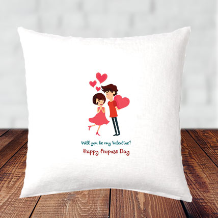 Propose Day Cushion