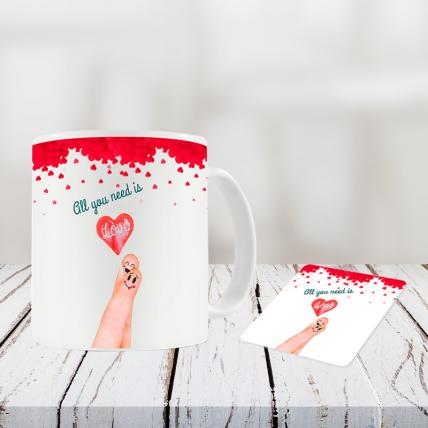 Valentine Day Mug and Coasters
