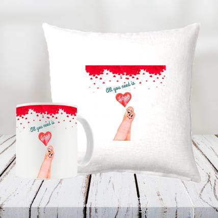 Valentine Cushion and Mug