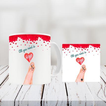 Valentine Table Top and Mug Combo