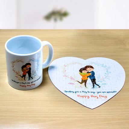 Hug Day Puzzle and Mug