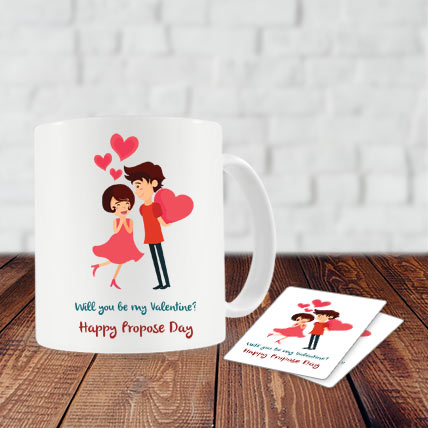 Propose Day Mug and Coasters
