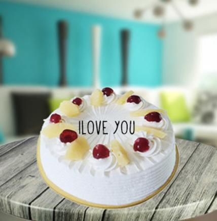 Valentine Pineapple Cake