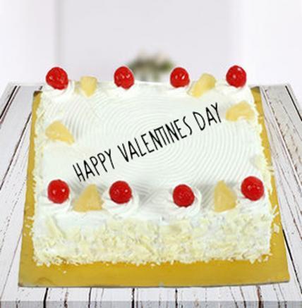 Valentine Square Pineapple Cake