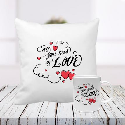 All You Need Is Love Cushion and Mug