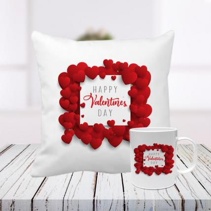 Valentine from Heart Cushion and Mug