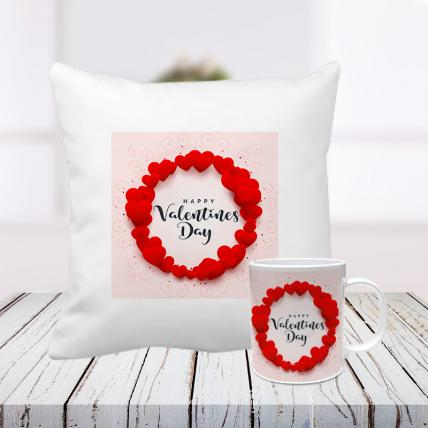 My Valentine Cushion and Mug