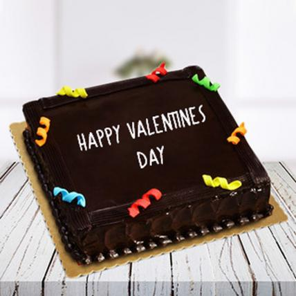 Valentine Rich Chocolate Truffle Square Cake