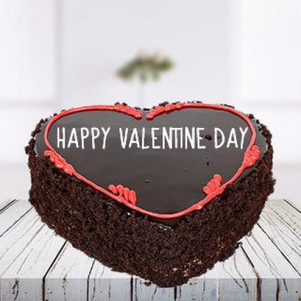 Valentine Choco Chips Heart Cake