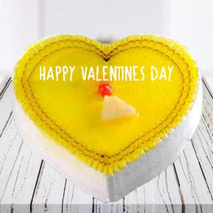 Happy Valentines Day Pineapple Cake