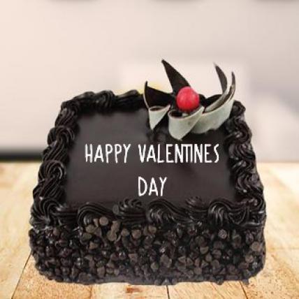 Valentine Square Choco Chip Cake