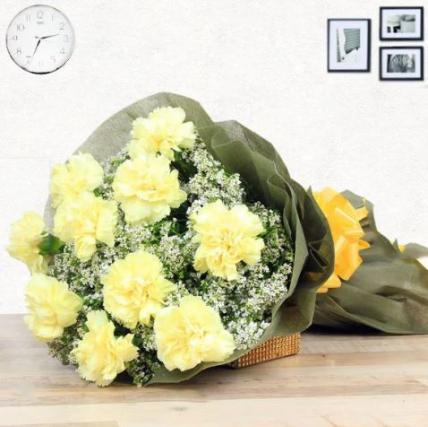 Yellow  Carnation Large Bouquet
