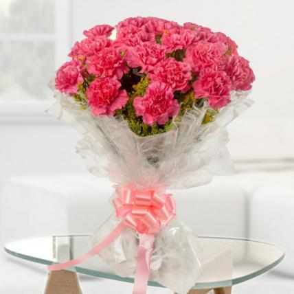 Cute Pink Carnation Bouquet