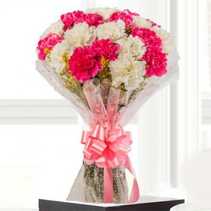 Pink and White Carnation Bouquet