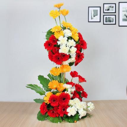 Mixed Gerbera Tall Arrangement
