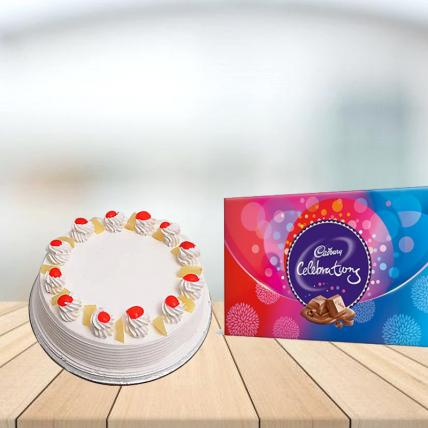 Pineapple Cake with Cadbury Celebration Combo
