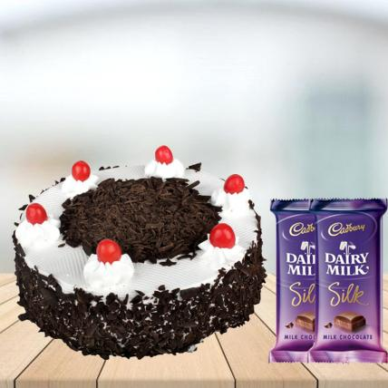 Black Forest Cake with Cadbury Silk Combo
