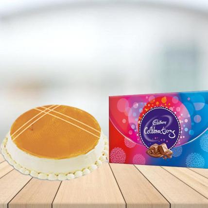 Butterscotch Cake with Cadbury Celebration Combo