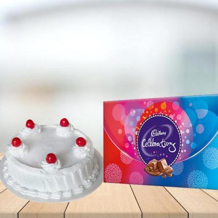 Vanilla Cake with Cadbury Celebration Combo