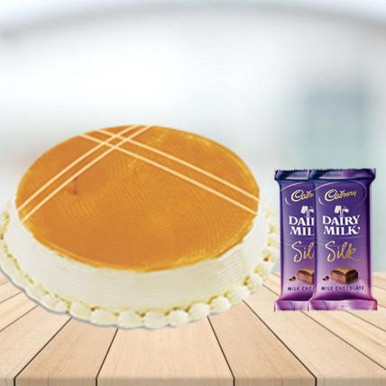 Butterscotch Cake with Cadbury Silk Combo