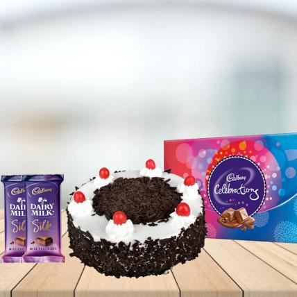 Black Forest Cake with Assorted Chocolates Combo