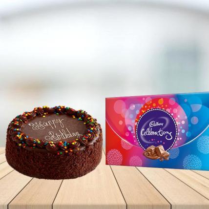Chocolate truffle Cake with Cadbury Celebration Combo