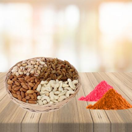 Mixed Dry Fruits with Free Gulal