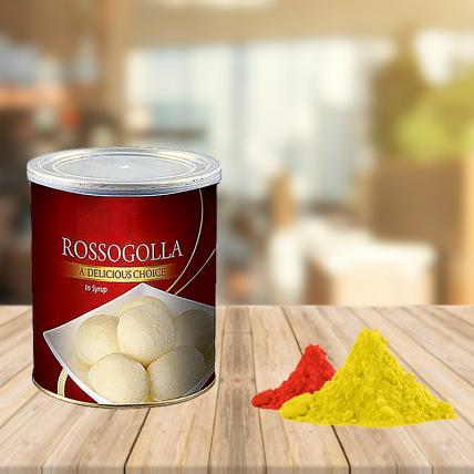Rasgulla with Free Gulal