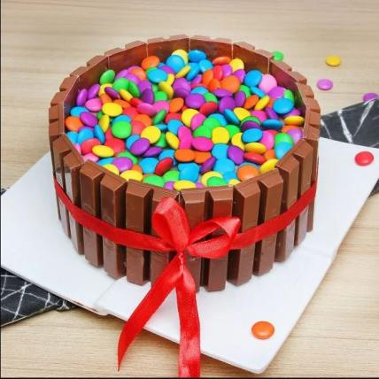 Kit Kat Cake with Gems