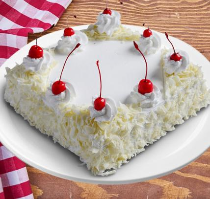 Yummy Square White Forest Cream Cake