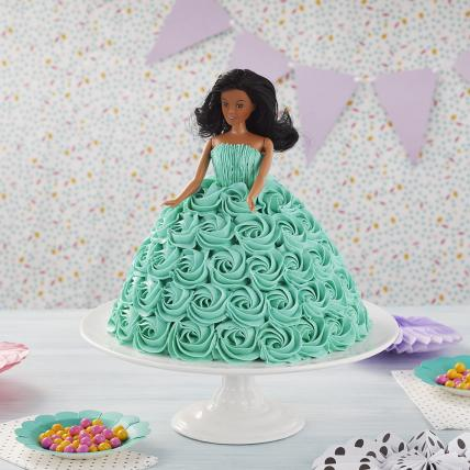 Beautiful Rosie Barbie Cake