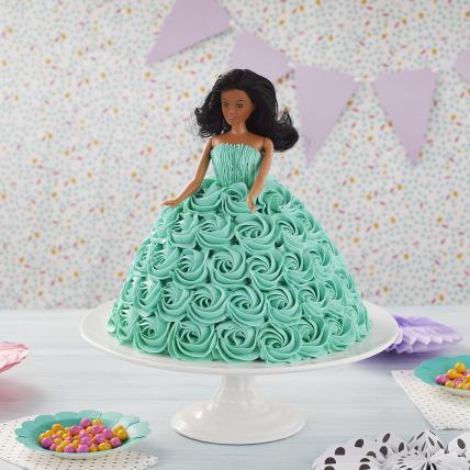 Beautiful Rosie Barbie Cake