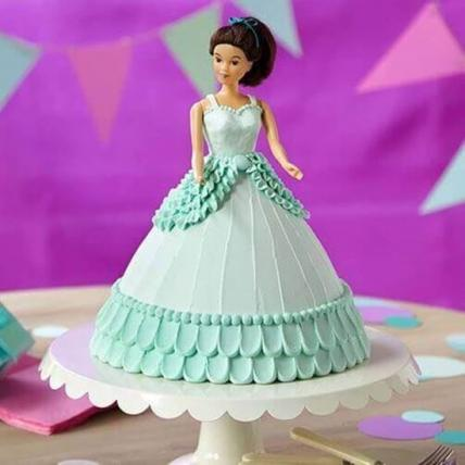 Beautiful Barbie Cream Cake