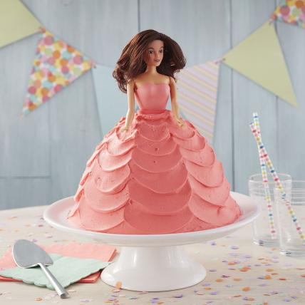 Lovely Pink Dress Barbie Cake