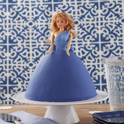 Cool Blue Barbie Cake
