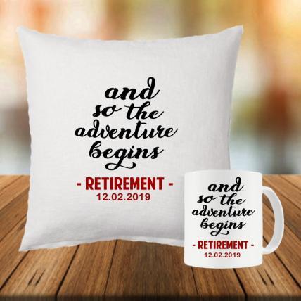Retirement Cushion and Mug Set