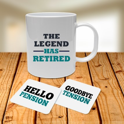 Retirement Mug and Coasters Combo